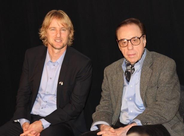 第27回東京国際映画祭で来日を果たしたピーター・ボグダノヴィッチ監督とオーウェン・ウィルソン