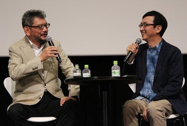 【写真を見る】笑顔でディープなノンストップトークを繰り広げた庵野秀明&氷川竜介