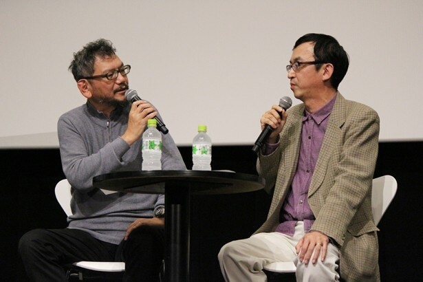 裏話を含めた濃厚なトークを繰り広げた庵野秀明とアニメ・特撮研究家の氷川竜介