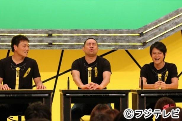 「IPPONスカウト」には伊藤修子の他、サバンナ・八木真澄(左)、レイザーラモン・RG(中央)、オジンオズボーン・篠宮暁(右)、グランジ・五明拓弥、ザ・プラン9・お~い!久馬が出場した