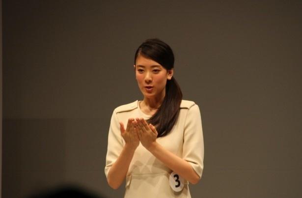 エントリーNo.3の滋賀県出身、小林京香(18)