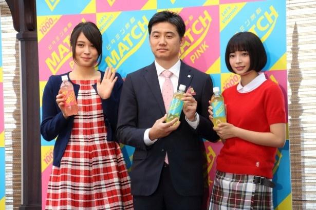 広瀬姉妹「マッチ冬のキャンペーン」記者発表会を開催