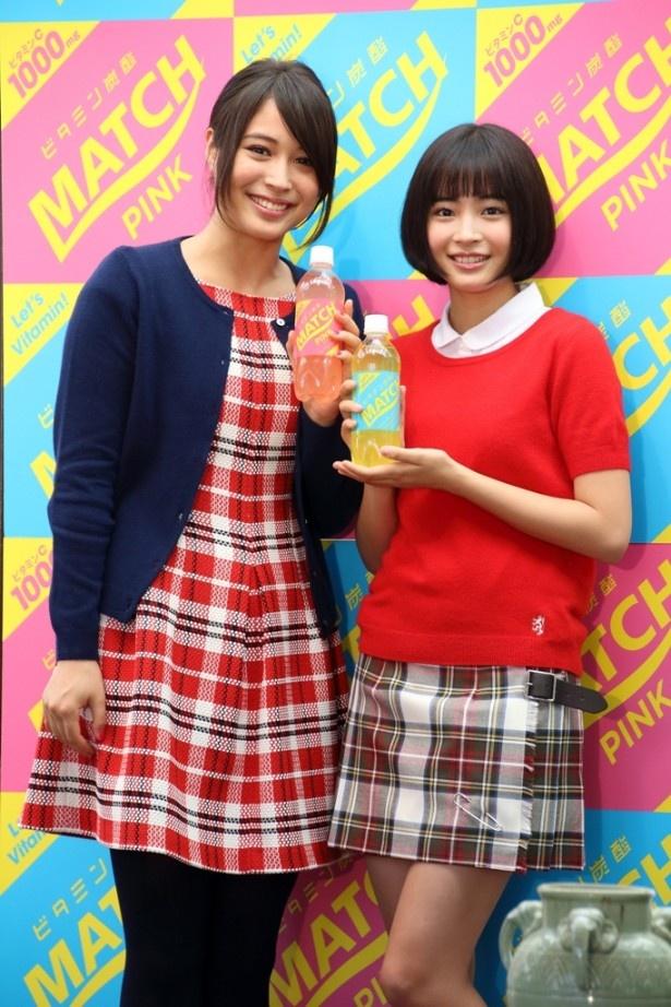 広瀬姉妹「マッチ冬のキャンペーン」に登場した広瀬アリス(左)と広瀬すず(右)