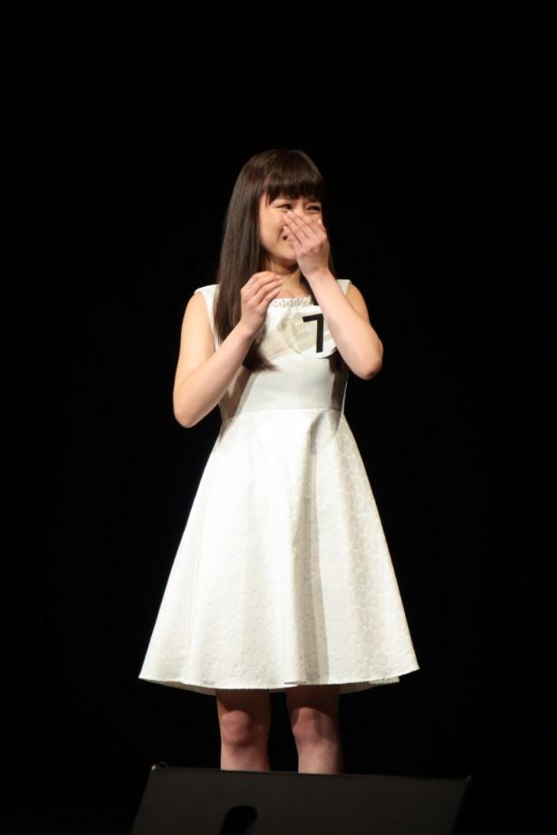【写真を見る】グランプリに輝いた瞬間にうれしさのあまり泣き出す生田若菜