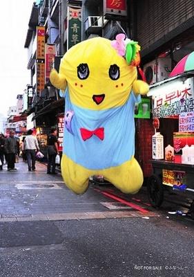 ふなっしーが台湾の街中で華麗にジャンプ!プロマイド第1弾は15日から
