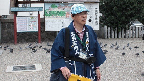 大須の街を知り尽くすガイドの坂下信夫さん