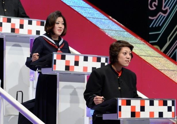 「Qさま!!」に初登場することになった日本エレキテル連合・中野聡子と橋本小雪(写真左から)