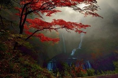 まるで絵画のような袋田の滝(茨城県久慈郡大子町)