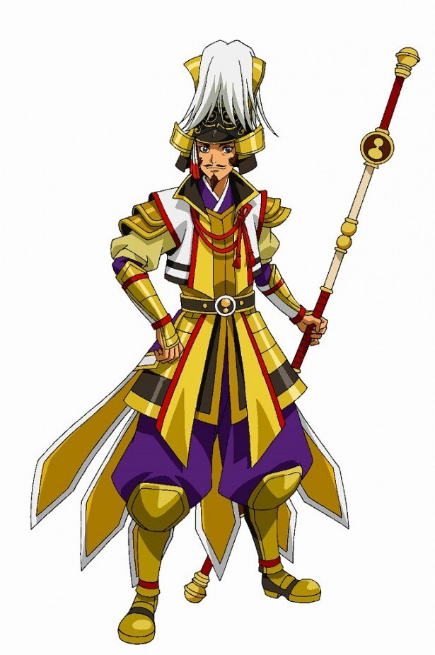 石川英郎が声を演じる豊臣秀吉。明るくひょうきんな人柄