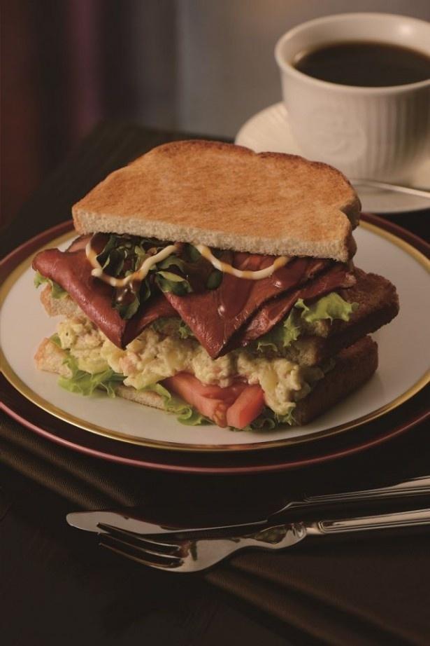 ローストビーフと贅沢なポテトサラダの2つの味が楽しめる「ローストビーフとアリオリポテト」(単品470円、ドリンクセット680円)は5日より発売