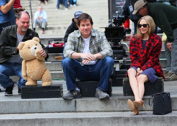 ニューヨークで行われた『テッド2』の撮影風景