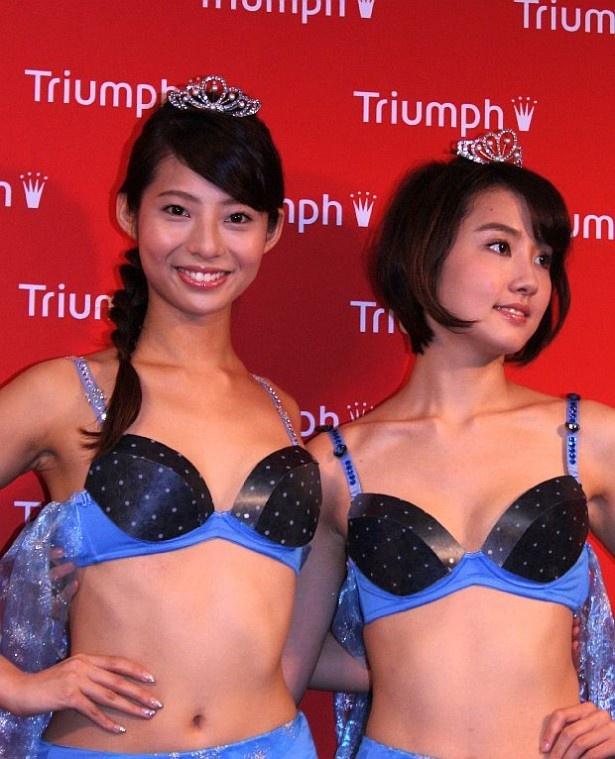 22歳の永田レイナと19歳の鎌滝えり(左から)