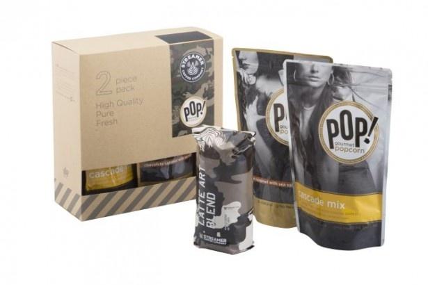 人気のポップコーンフレーバーとオリジナルブレンド豆を詰め合わせた「POP! gourmet popcorn×STREAMER COFFEE COMPANY ウィンターギフトパッケージ」(3780円)