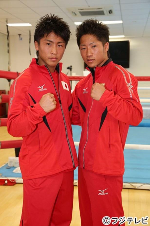 【写真を見る】12月30日(火)には兄弟で同じリングに立つ! 兄・井上尚弥(左)と弟・井上拓真(右)の2ショット!