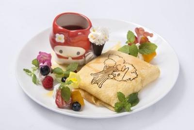 マイメロディのマグカップは持ち帰りができる!渋谷パルコでは、デザートの中で一番人気を集めた「森のマイメロディクレープ オオカミが狙ってるよ!?」(税抜1580円)