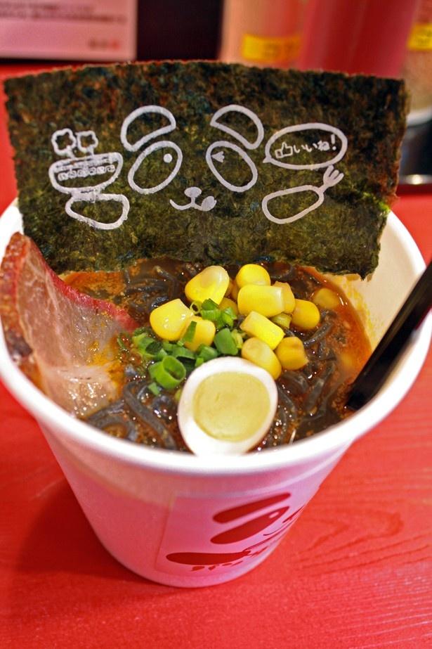 パンダラーメン「赤」は旨辛四川味。特製四川ダレはピリ辛で温まること間違いなし!