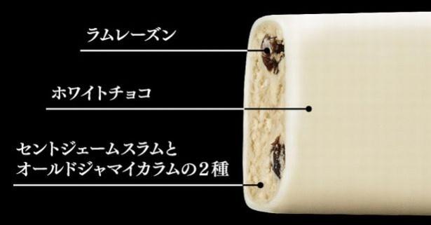 アイスクリームに、ラム酒「セントジェームスラム」と「オールドジャマイカラム」の2種類を使用することで、奥行きのある芳醇な味わいに!