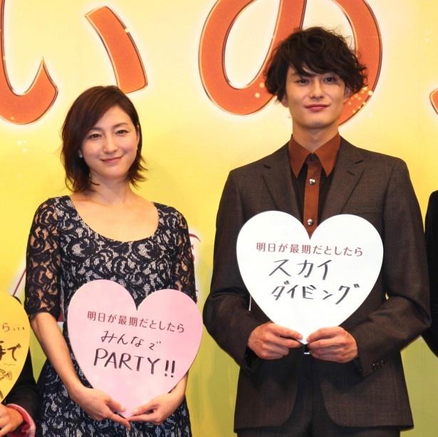 広末は、岡田の演技について「思いのほかリアルで、ちょっとイラっとしました(笑)」とユーモアを交えて絶賛