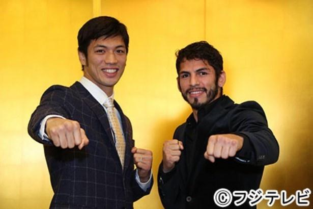 12月30日(火)にそれぞれ試合が決定したミドル級の村田諒太(左)とライト級のホルヘ・リナレス(右)