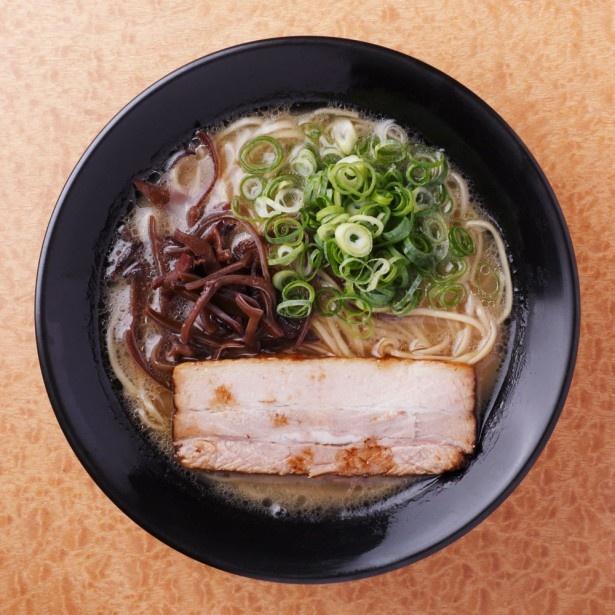 「らーめん二男坊×島系本店」は、イベリコ豚のチャーシューがポイント。二男坊のクリーミーなスープに島系の「博多熟成太麺」がマッチする