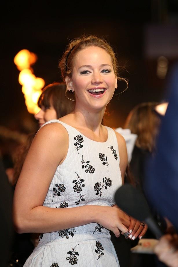 『ハンガー・ゲーム』シリーズ最新作のロンドンプレミアに登場したジェニファー・ローレンス