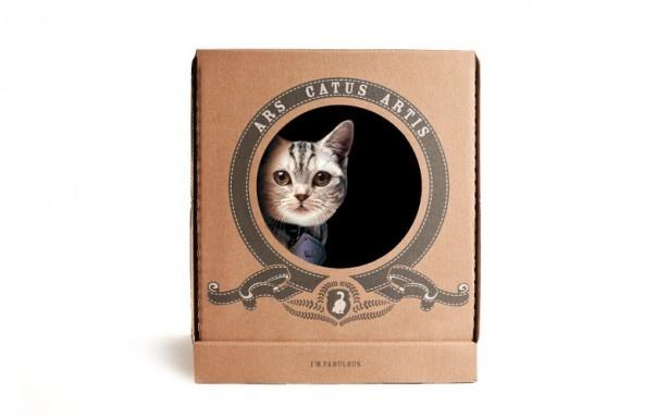 ネコが大好きな段ボール素材の「プーピーキャット」(オープン価格)