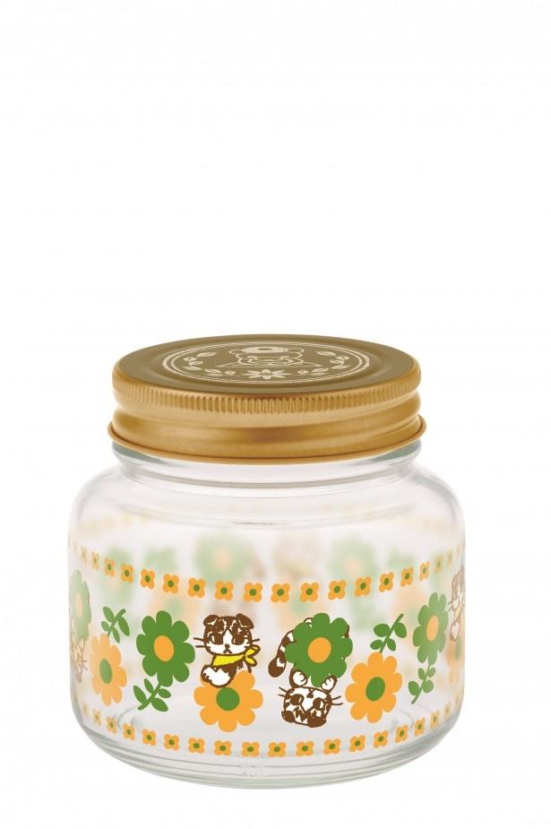 H賞「ガラス瓶」(高さ約9cm)。花とブンちゃんがマッチ