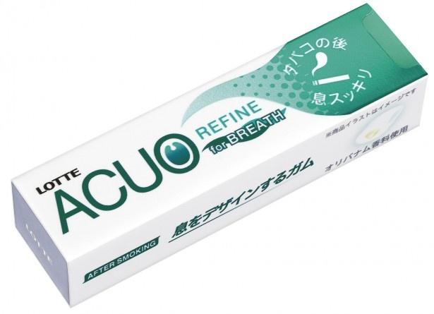 清涼感あるミントリキッドで息すっきり!デートの時も活用したい「ACUO REFINE(タバコの後で)」(想定小売価格・税抜130円前後)