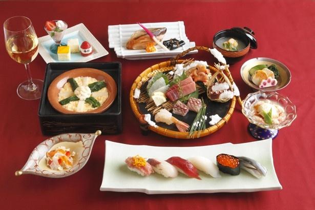 鮨処 銀座 福助のクリスマスディナーコース(7560円)