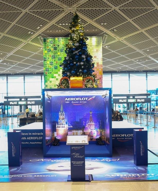11月15日から12月25日(木)までの期間、成田国際空港第1ターミナルの北ウィング4階出発ロビーに登場!