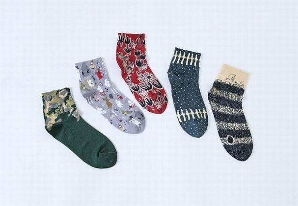 暖かな素材を用いたTabioの定番ソックスと、北欧生まれのムーミンの刺繍は相性ぴったり!