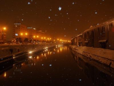 静寂な夜に包まれたな冬景色も見どころのひとつ