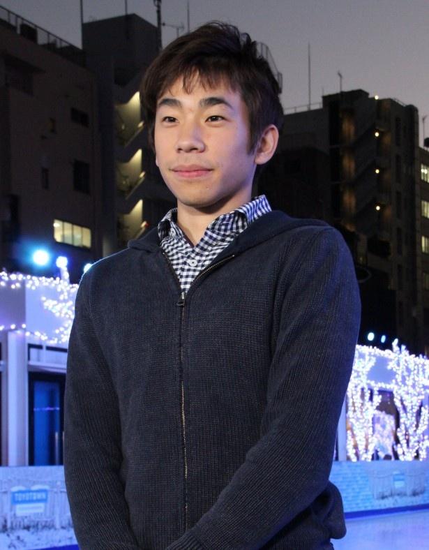 東京・赤坂サカス内のスケートリンク・White Sacasのオープニングイベントに登場した織田信成