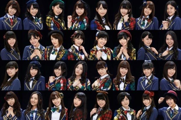 「―ベストアーティスト2014」に出演するAKB48