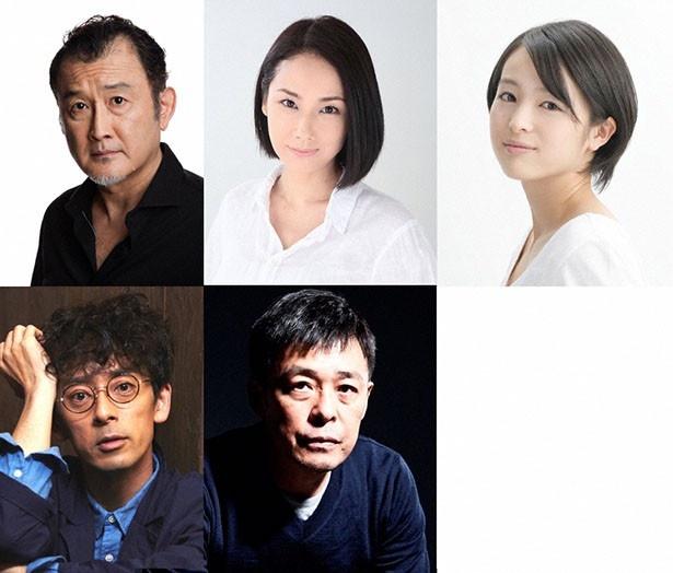 上野以外の追加キャスト。写真上段から吉田鋼太郎、吉田羊、清野菜名、下段左から滝藤賢一、光石研。旬の男優・女優から名バイプレーヤー、期待の新人と強力キャストが集結