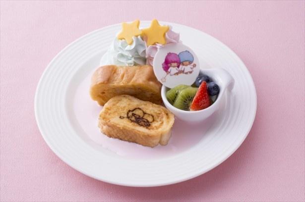 仙台パルコ8Fスイパラで楽しめる「キキ&ララのリトルツインスターズ フレンチトースト」