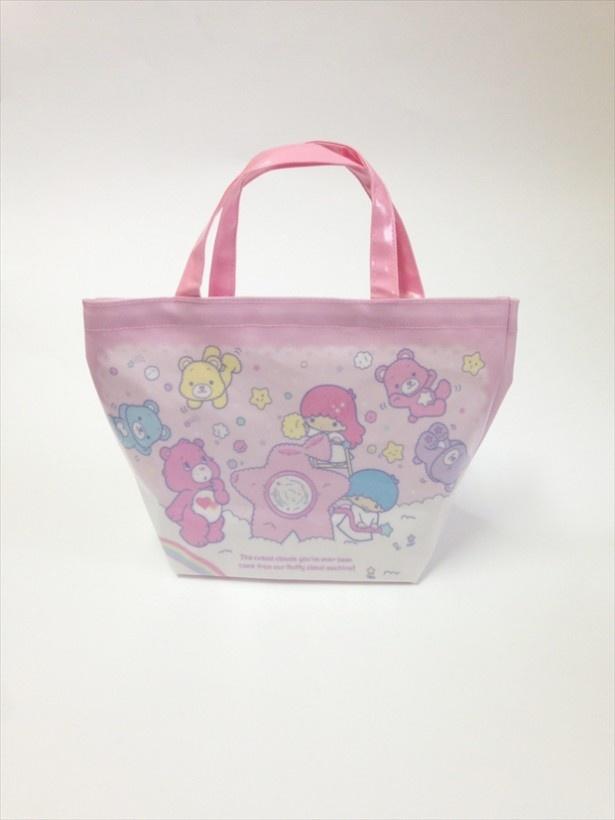 「BABY PINK MOON限定 キキ&ララ×ケアベア ミニトートバッグ」(税抜2400円)  ※こちらの商品は6Fベビーピンクムーンで販売