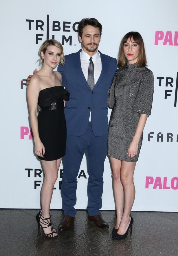 ジャックのデビュー作『Palo Alto(原題)』出演のエマ・ロバーツ、ジェームズ・フランコ、監督のジア・コッポラ