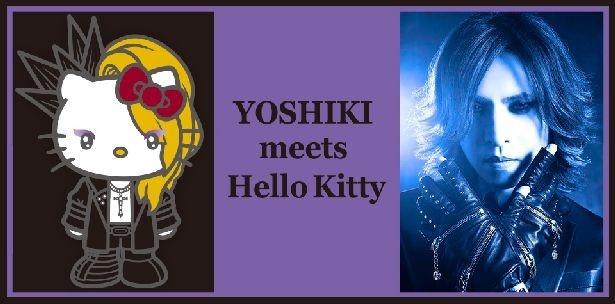 YOSHIKIとハローキティのコラボキャラYoshikittyが初お披露目される