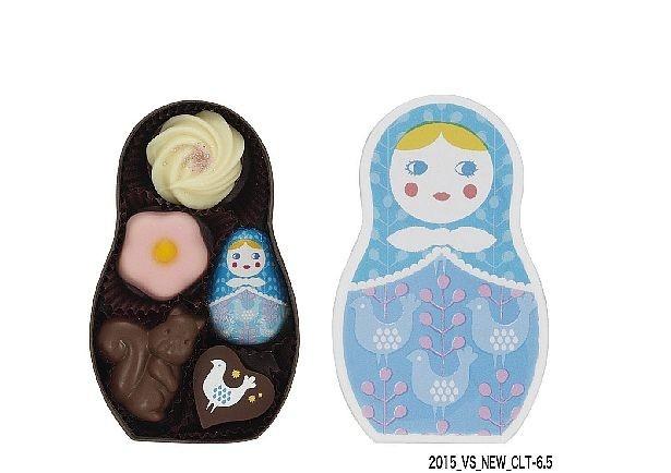 メリーチョコレートから発売されるバレンタイン向けチョコ「ショコラーシカ」シリーズの「ターニャ」(702円・5個入)