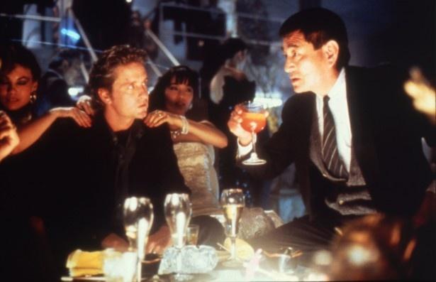 名優マイケル・ダグラスと共演し、息の合った演技を披露した(『ブラック・レイン』)