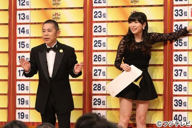 【写真を見る】岡村と指原莉乃(右)が国民投票の結果を発表