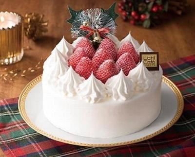 ホールの「苺のショートケーキ」(3500円/5号)は記者が最もおすすめしたいクリスマスケーキ!
