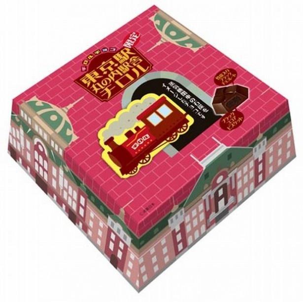 【写真を見る】中には蒸気機関車の石炭を模したチョコレートが!仕掛けが楽しい「ジャンボチロル(東京駅丸の内駅舎)」(1080円)