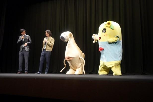 映画を見たふなっしーの感想に、染谷は「普通に褒めてくれた(笑)」
