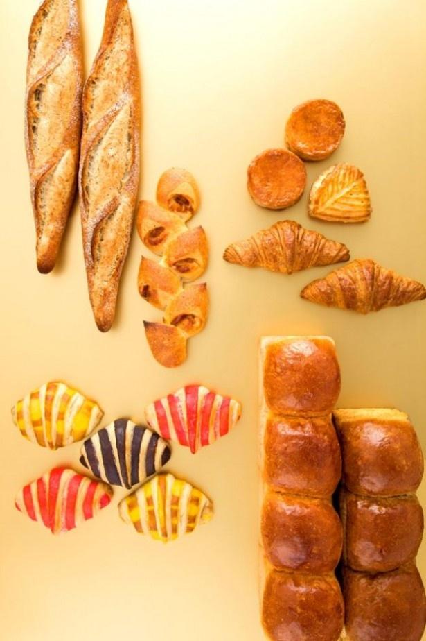 思わず目移りしてしまいそうな、焼きたてパン各種も豊富に用意!