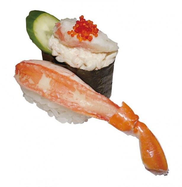 北海道甘えびのビスクによく合う「ビスクにあう二貫盛りセット」