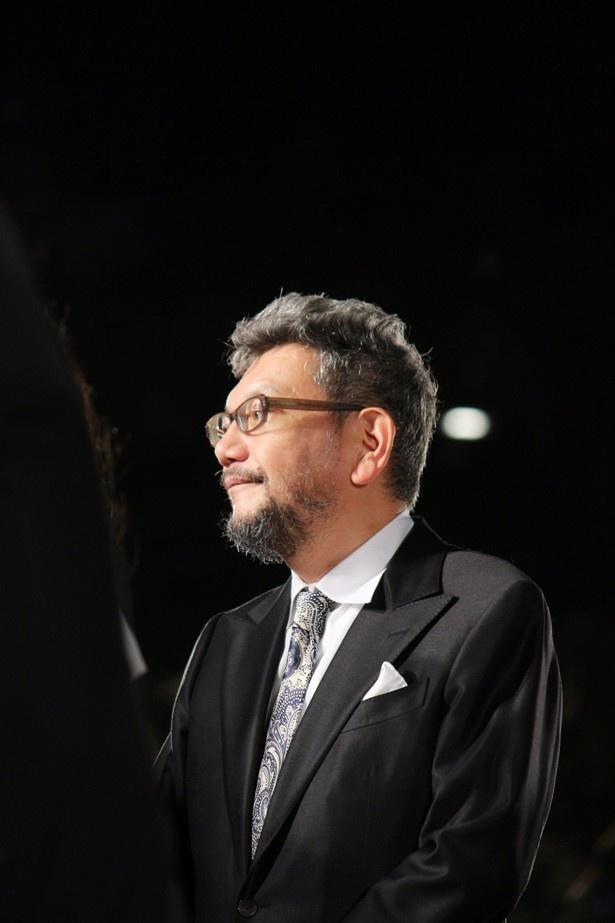 東京国際映画祭レッドカーペットでの庵野監督