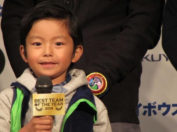 「妖怪ウォッチ」ファン代表としてプレゼンターを務めた加藤憲史郎