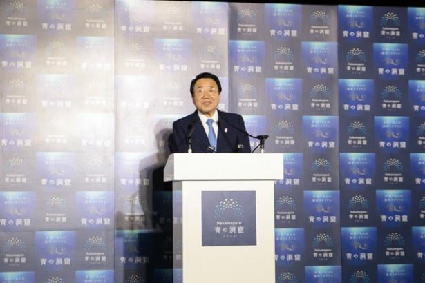 「今回のイベントは、観光客だけでなく地元の人にも安心して楽しんでいただけるよう尽力した」と語る本橋健明「Nakameguro 青の洞窟」実行委員長